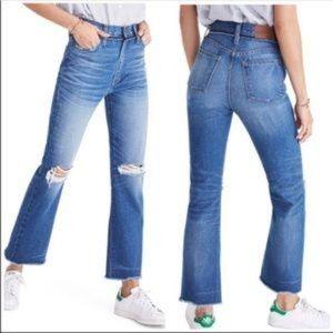 MADEWELL Retro Crop Bootcut High Rise Jeans Sz 25